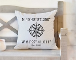 Latitude Longitude Pillow