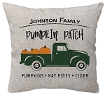 Pumpkin Patch Truck Pillow