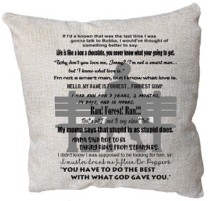 Forrest Gump Quotes Pillow