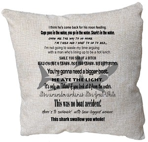 Jaws Quotes Pillow