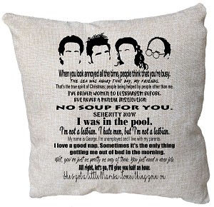 Seinfeld Quotes Pillow